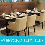 Comfortable Single Wooden Hotel Dining Sofa Chair-BYD-TYKF-044