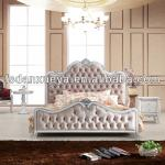 Foshan antique and comfortable fabric bedroom set 8013 #-8013#