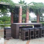 2014 Garden PE Rattan outdoor pull up bars/Bar furniture-AR-BC001,AR-BT001D