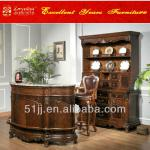Wooden home furniture drinking bar table wine cabinet with bar stool 027936-Bar set 027936