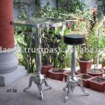 Cast aluminium Bar Table And Stool with mirror polish-AF39