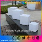 Outdoor Modern Clear Stackable Armless White LED Plastic Chair-BZ-CH003