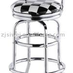 Any logo can design on the cushion with backrest can 360 degree turn SW-7 bar stool-SW-7