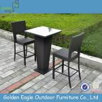 PE rattan bar table and bar chairs for outdoor use , ratan furniture-FP0219