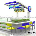 wooden fresh juice bar counter design mall-M272430