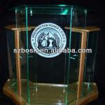 Wing Style and Glass Colored Acrylic Lectern-SL-059