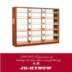 wooden lateral plate double column double side bookshelf-JD-012