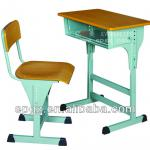 Adjustable single student desk and chair, 2013 new style adjustable single desk and chair/nice quality adjustable desk and chair-SF-02A