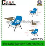 guangzhou furniture plastic training chair with wooden writing board/plastic chair with pad for training-GT-38B