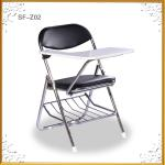 hot metal folding school chair with writing pad-JZ-M001