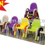 plastic bright colored chairs-YQL-D020-1