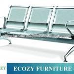 Stainless steel public waiting chair, steel furniture perforated chairs-YS-S310