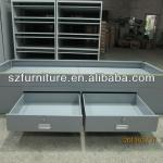 Oil platform employee single layer metal bed with double under drawers-TC-623