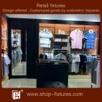 Reasonable price display cabinets for men garments with LED spotlights-GG1003