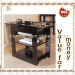 wood hot stone spa trolley for beauty furniture-B-64(black)