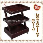 professional wooden beauty trolley-B-61(wine red)