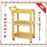 Beauty trolley tool cart works-B-62(wood color)