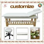according to customized wood adjustble spa beauty bed-B-003wood color