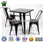 Fashion Antique Tolix Dining Table with Wooden Top Metal Furniture Table-AT002