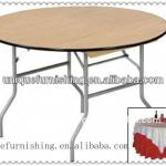 Wooden Folding Table/Banquet Round Table-UC-FT60 Wooden Round Table