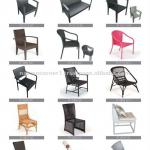 Aluminum Frame Outdoor Wicker Rattan Dining Chairs-TF---DC
