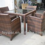 wholesale poly synthetic rattan wicker cane furniture restaurant dining tables and chairs YPS090-YPS090