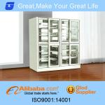 2013 high quality library metal bookshelf with temper glass board-GLT-10-011