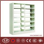 School library use light grey steel book shelf with good price-HDS-04