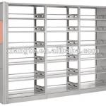 modern design 6 layers double sided metal library bookcase/school library furniture whole steel bookshelf-BF009-XT