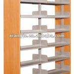 decorative commercial bookcase/wooden and metal library bookshelf best used in library-BF014-XT