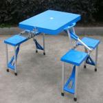 cheap blue plastic folding table(blow mould, HDPE, outdoor,banquet,camping)-JL-010-ABS