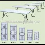 2013 Hot sale High quality 8 ' blow mold plastic folding table-YX-Z242-88