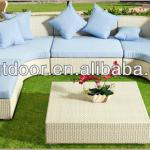 Beautiful white rattan outdoor furniture-DH-1002