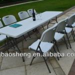 8FT outdoor folding furniture table and chair HDPE below molded table top half folding-BSL-Z240