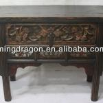 chinese antique Shanxi elm wood recycle distressed hand carved console table