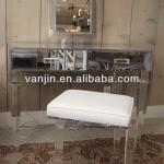 Mirrored lucite acrylic vanity table with drawer (Item No.2031312106)