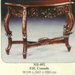 Phone Console Mahogany Indoor Furniture