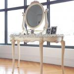 Country style Home wooden white colour classical console table and mirror