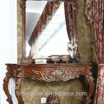 European antique wooden console table with mirror DF94-35M