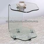 Acrylic side table with wheel/ console table with wheels