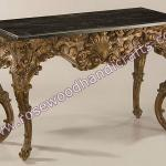 Wooden Full Carved Console Table , Rosewood Carved Console Table