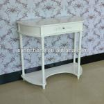 White french nightstand console table single drawer wooden table furniture