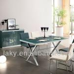 square glass dinning table