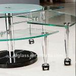 Semicircle tempered glass table