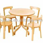 Wood furniture wooden furniture solid wooden Chilren Bentwood Dining set
