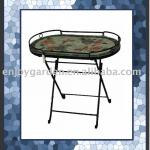 Mosaic top folding Tray table