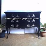 Indonesia Furniture - Black Moulin Nour Bombe Chest