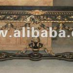 French style Black in Gold Entrance Console Table - Best Quality Reproduction Entrance Antique Console