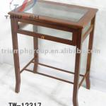 Glass frame side table