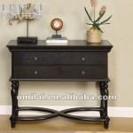 wooden modern hallway console table with drawer